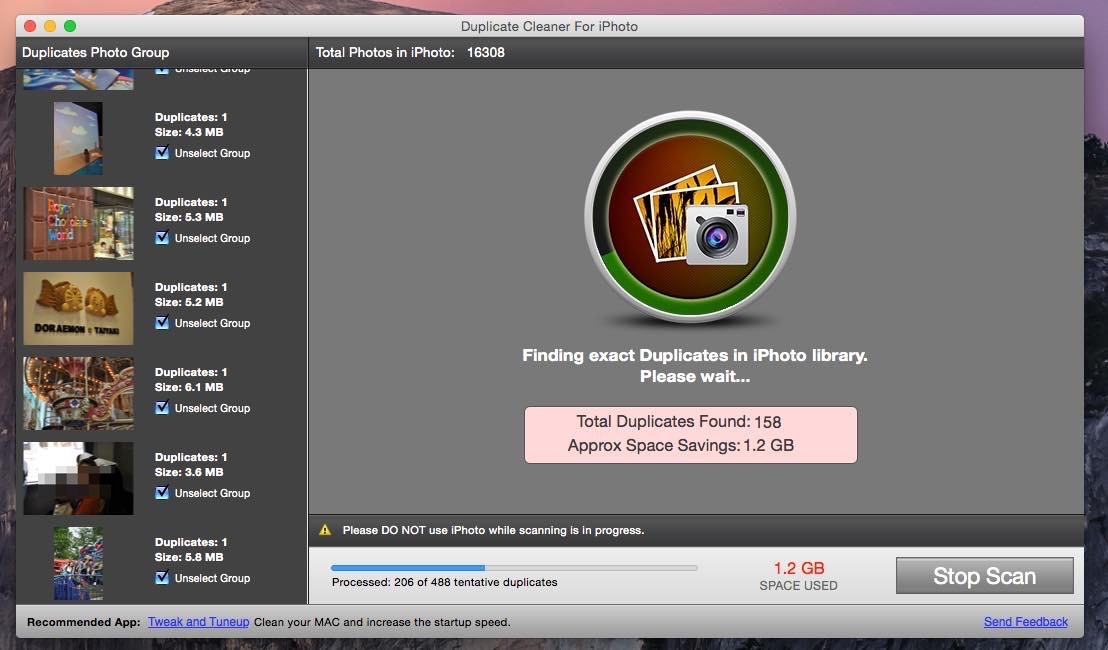 Duplicate Cleaner For iPhoto 09 20141103 213935