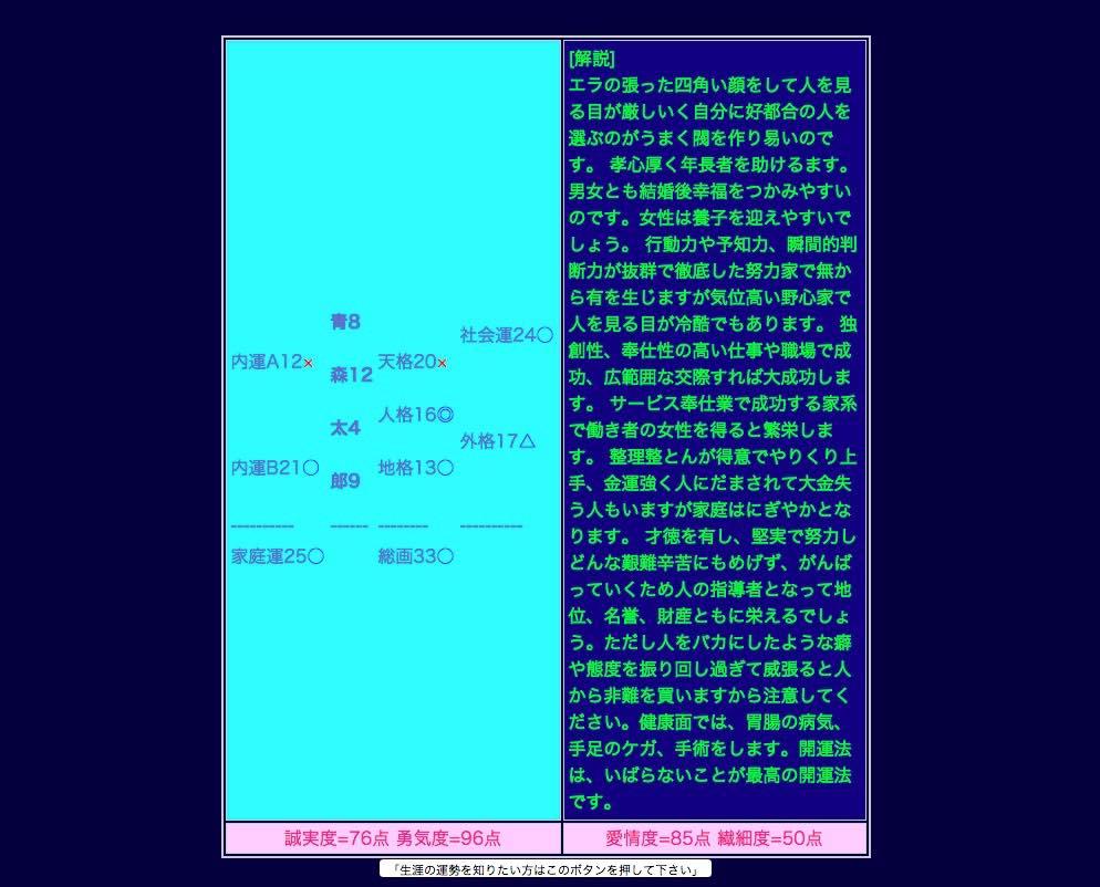 梅吉君の姓名判断 02 20150718 230941